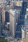 Construção do ferro de passar roupa em Manhattan, NYC Imagens de Stock