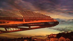 Construção do futurista Fotos de Stock Royalty Free