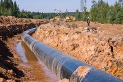 Construção do gasoduto Foto de Stock Royalty Free