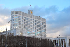 Construção do governo da Federação Russa (a casa branca) moscow Imagem de Stock