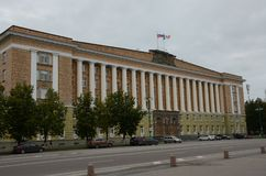 Construção do governo de Novgorod - arquitetura exterior fotografia de stock royalty free