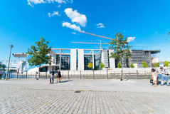 Construção do governo em Berlim fotografia de stock