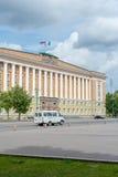 Construção do governo em Veliky Novgorod fotografia de stock