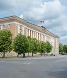 Construção do governo em Veliky Novgorod foto de stock royalty free