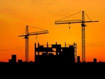 Construção do guindaste Imagens de Stock