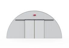 Construção do hangar isolada Foto de Stock Royalty Free