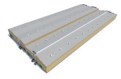 Construção do hangar Isolado no branco Imagens de Stock