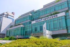 Construção do hospital da universidade de nacional de Seoul em Jongno-gu, cidade de Seoul foto de stock royalty free
