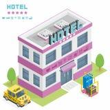 Construção do hotel Fotografia de Stock Royalty Free