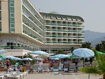 A construção do hotel em Turquia do sul imagem de stock royalty free