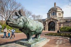 Construção do jardim zoológico de Bronx Fotografia de Stock