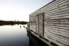 Construção do lago Fotos de Stock Royalty Free
