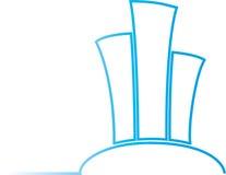 Construção do logotipo ilustração stock