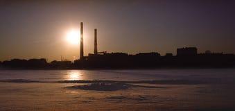 A construção do manufactory de matéria têxtil de Neva imagens de stock