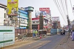 Construção do metro de Ernakulam Foto de Stock Royalty Free