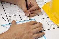 Construção do modelo da casa Imagem de Stock Royalty Free