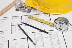 Construção do modelo da casa Imagem de Stock