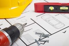 Construção do modelo da casa Fotografia de Stock Royalty Free