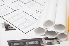 Construção do modelo da casa Foto de Stock