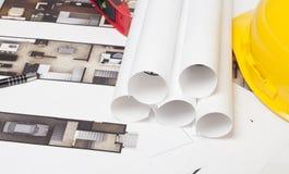 Construção do modelo da casa Fotografia de Stock