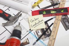 Construção do modelo da casa Foto de Stock Royalty Free