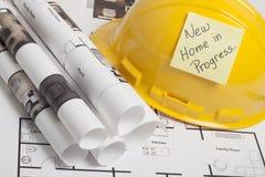Construção do modelo da casa Imagens de Stock Royalty Free