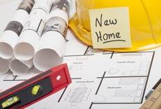 Construção do modelo da casa Fotos de Stock Royalty Free