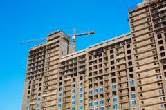 construção do Multi-andar sob a construção Fotos de Stock