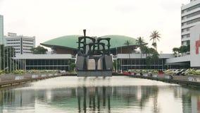 Construção do parlamento de Indonésia video estoque
