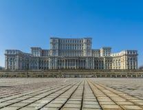 A construção do parlamento em Bucareste Romênia igualmente chamou Casa Poporulu Foto de Stock
