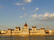 Construção do parlamento em Budapest, Hungria Imagens de Stock Royalty Free