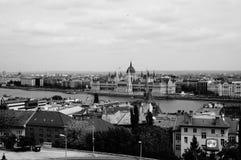 Construção do parlamento em Budapest, Hungria Fotografia de Stock Royalty Free