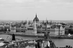 Construção do parlamento em Budapest, Hungria Fotografia de Stock