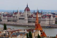 Construção do parlamento em Budapest, Hungria Imagens de Stock