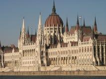 A construção do parlamento em Budapest, Hungria Imagem de Stock
