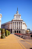 Construção do parlamento em Sófia, Bulgária Imagens de Stock Royalty Free