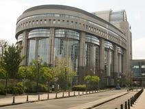 Construção do Parlamento Europeu em Bruxelas Fotos de Stock Royalty Free