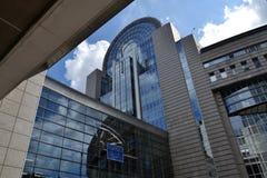 Construção do Parlamento Europeu em Bruxelas, Bélgica Fotografia de Stock Royalty Free