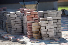 Construção do pavimento Imagens de Stock
