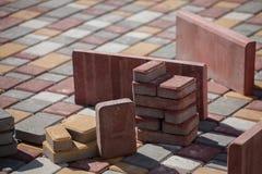 Construção do pavimento Fotografia de Stock