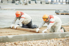 Construção do pavimento de estrada imagens de stock royalty free