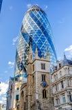 30 construção do pepino do St Mary Axe aka, Londres Fotografia de Stock Royalty Free
