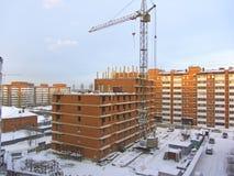 Construção do prédio de apartamentos Imagens de Stock