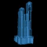 Construção do raio x isolada no preto Foto de Stock Royalty Free