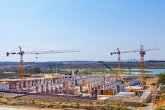 Construção do reservatório Foto de Stock