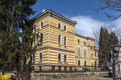 Construção do sínodo santamente da igreja ortodoxa búlgara em Sófia, Bulgária foto de stock royalty free