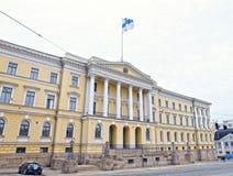 Construção do Senado (palácio do governo de Finlandia) fotos de stock