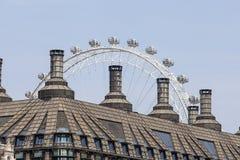 Construção do subterrâneo de Londres da estação de Westminster e do olho de Londres, Londres, Reino Unido Fotos de Stock Royalty Free