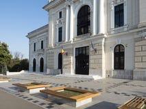 Construção do teatro, Drobeta-Turnu Severin, Romênia Imagem de Stock Royalty Free
