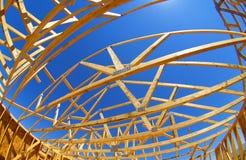 Construção do telhado da casa Fotografia de Stock